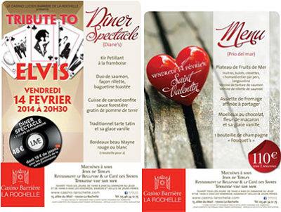 illustration de Saint Valentin 2014 au Casino Barrière de La Rochelle : dîner feutré ou dîner-spectacle, vend. 14 février 2014