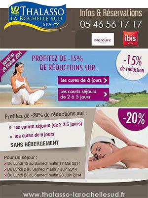 illustration de Offres spéciales à la Thalasso La Rochelle Sud : 15% et 20% de réduction pour en profiter pleinement !