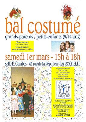 illustration de La Rochelle : bal costumé inter-générationel grands-parents - petits-enfants, samedi 1er mars 2014