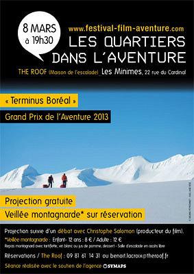 illustration de La Rochelle : Terminus Boréal, projection-débat du grand prix du festival du film d'aventure 2013 et veillée montagnarde samedi 8 mars 2014 au Roof