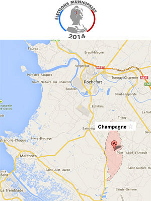 illustration de En Charente-Maritime : Champagne 17620, unique commune sans candidat au 1er tour des municipales 2014