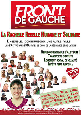 illustration de La Rochelle rebelle, humaine et solidaire, rencontres thématiques avec le Front de gauche 14 et 18 mars 2014