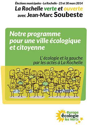 illustration de La Rochelle verte et ouverte : RV à vélo et cafés politiques 19 et 20 mars 2014 ; programme complet en PDF