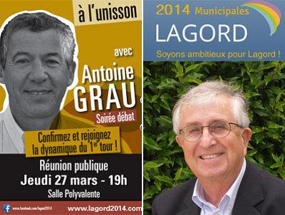 illustration de La Rochelle Agglo : Antoine Grau - Pierre Le Henaff au 2e tour à Lagord, Jean-François Douard se retire