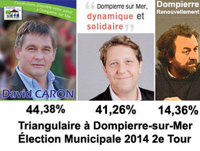 illustration de La Rochelle Agglo : à Dompierre-sur-Mer, triangulaire entre 1 liste de droite et 2 de gauche