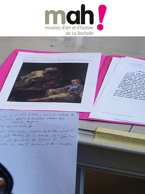 illustration de La Rochelle : un jour avec Fromentin, journée d'ateliers au musée des Beaux-Arts, deux dates vendredi 4 et samedi 5 avril 2014