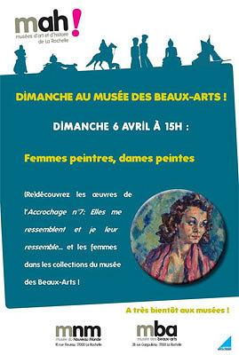 illustration de Un dimanche au musée des Beaux-Arts de La Rochelle : femmes peintres, dames peintres, visite à 15h