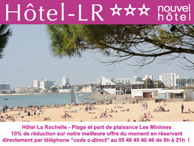illustration de Hôtel à La Rochelle plage et port des Minimes : réservez en direct au meilleur prix votre hôtel 3 étoiles !