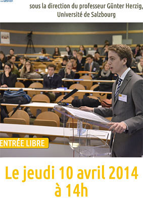 illustration de Faculté de droit de La Rochelle : exercices de plaidoiries des étudiants, jeudi 10 avril 2014 à 14h