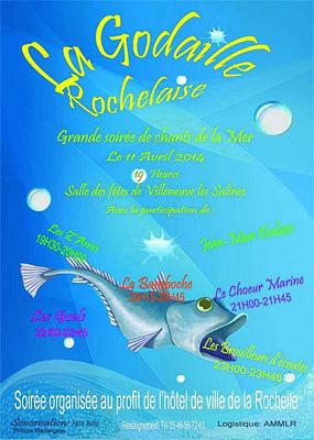 illustration de Soirée de chants de la mer au profit de l'hôtel de ville de La Rochelle, vendredi 11 avril 2014