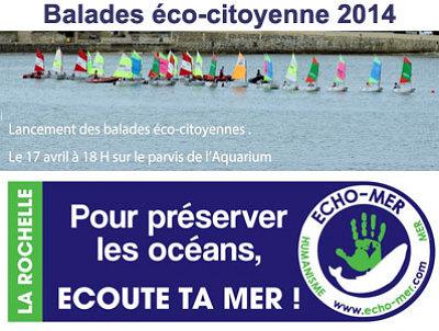 illustration de La Rochelle : ouverture de la saison des balades éco-citoyennes avec Echo-Mer et le port de plaisance, jeudi 17 avril 2014