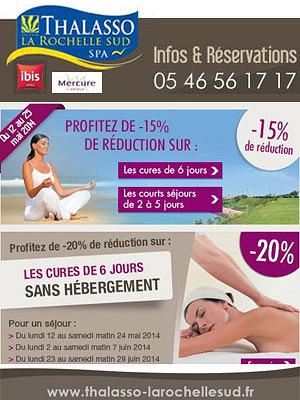 illustration de Thalasso La Rochelle Sud : séjours et cures, profitez des promotions du printemps 2014 !