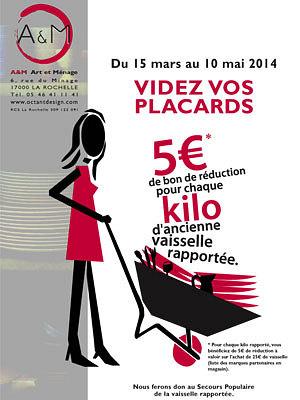 illustration de La Rochelle : videz vos placards ! A&M transforme votre ancienne vaisselle en bons d'achat jusqu'au 10 mai 2014
