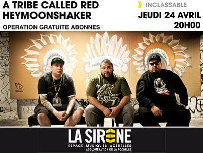 illustration de Pow Wow Step & more à La Rochelle : A Tribe Called Red  et Heymoonshaker en concert à La Sirène, jeudi 24 avril 2014
