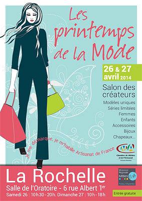 illustration de Fashion week-end in La Rochelle : 1ère édition des Printemps de la Mode, samedi 26 et dimanche 27 avril 2014