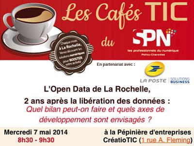 illustration de Café TIC sur l'Open Data à La Rochelle : mardi 7 mai 2014 de 8h30 à 9h30