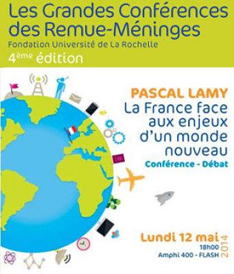 illustration de Université de La Rochelle : conférence-débat avec Pascal Lamy sur la mondialisation, lundi 12 mai 2014