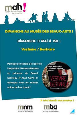 illustration de Un dimanche au musée des Beaux-Arts de La Rochelle : autour de Vestiaire-Bestiaire, le 11 mai 2014 à 15h