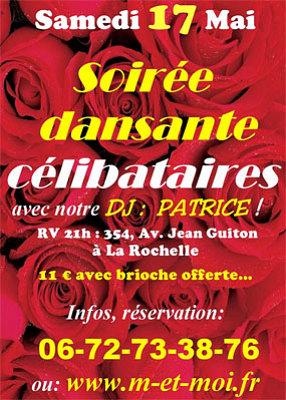 illustration de Soirée dansante pour les célibataires à La Rochelle, samedi 17 mai 2014