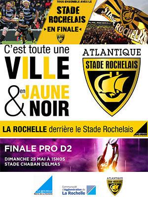 illustration de La Rochelle - Agen : finale rugby Pro D2 à Bordeaux, à suivre aussi à La Rochelle, dimanche 25 mai 2014 à partir de 15h