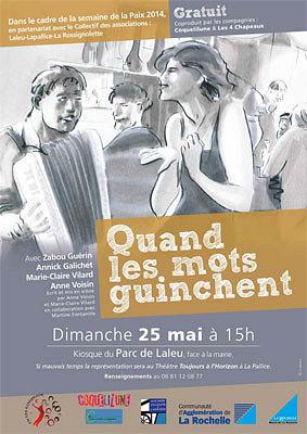 illustration de La Rochelle : théâtre-dancing et bal, dimanche 25 mai 2014, horaire modifié RV à 17h30