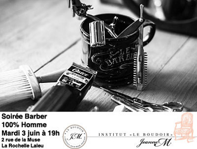 illustration de La Rochelle, beauté au masculin, soirée Barber 100% homme, mardi 3 juin 2014 à 19h