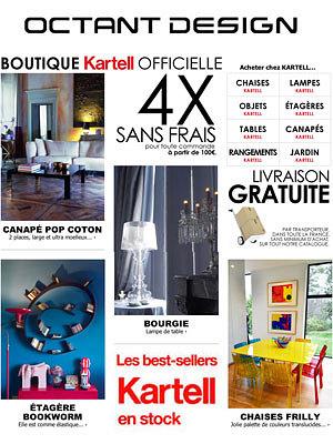illustration de La Rochelle - France : les best-sellers Kartell en stock, livraison gratuite en France !