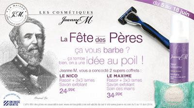 illustration de La Rochelle : beauté au masculin, coffrets fête des pères 2014, offre spéciale avec On rase gratis !