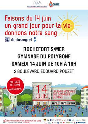 illustration de Charente-Maritime : journée mondiale du don de sang à Rochefort, samedi 14 juin 2014