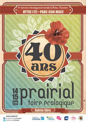 illustration de Agglo de La Rochelle : Prairial, la foire écologique d'Aytré fête ses 40 ans samedi 14 et dimanche 15 juin 2014 !