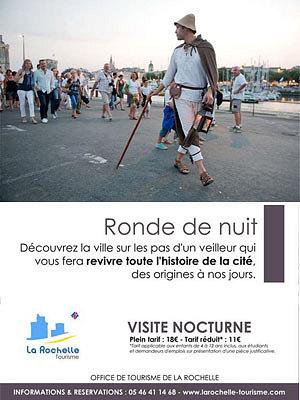illustration de La Rochelle tourisme été 2014: le retour des Rondes de nuit, premiers départs jeudi 19 juin 2014 !