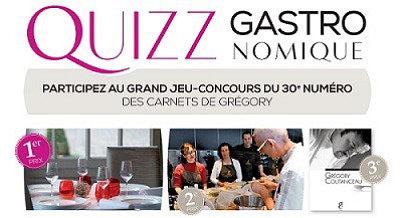 illustration de Gastronomie à La Rochelle : jeu-concours pour la 30e édition des Carnets de Grégory Coutanceau