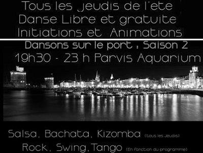 illustration de Dansons sur le port à La Rochelle : première soirée gratuite de l'été 2014, jeudi 26 juin 19h30-23h !