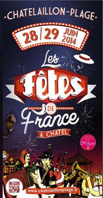 illustration de Charente-Maritime : Châtelaillon-Plage rend hommage aux fêtes de France, samedi 28 et dimanche 29 juin 2014