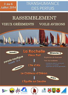illustration de Charente-Maritime - Transhumance des Pertuis : événement nautique, rendez-vous à la Rochelle les 5 et 6 juillet 2014