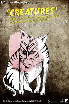 illustration de Exposition collective à la galerie Bletterie à La Rochelle jusqu'au 19 juillet 2014