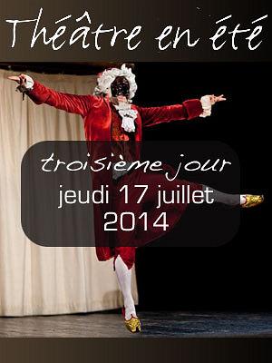 illustration de La Rochelle : chansons à 17h, 2 pièces de théâtre dans la soirée avec Balzaminov et  Mildred Eosine, jeudi 17 juillet 2014
