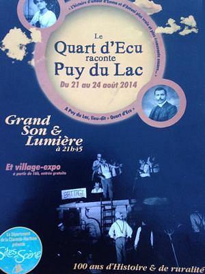 illustration de Charente-Maritime : Le Quart d'Écu raconte Puy-du-Lac, un siècle de ruralité en vingt-cinq tableaux du jeudi 21 au dimanche 24 août 2014.