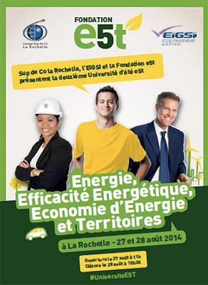 illustration de La Rochelle : la transition énergétique en débat à l'université d'été de la fondation e5t les 27 et 28 août 2014