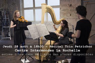 illustration de Récital gratuit à La Rochelle : le trio australien Petrichor au Centre Intermondes, jeudi 28 août à 18h30