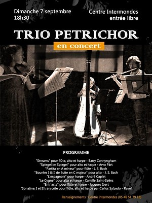 illustration de Concert gratuit à La Rochelle avec le trio Petrichor au Centre Intermondes, dimanche 7 septembre 2014