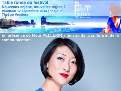 illustration de La ministre Fleur Pellerin attendue à La Rochelle pour le débat du Festival de la fiction TV, vendredi 12 septembre 2014