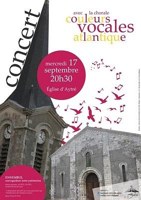 illustration de Agglo La Rochelle : chorale couleurs vocales atlantique, concert à Aytré au profit de la sauvegarde de l'église, mercredi 17 septembre 2014