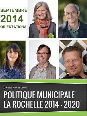 illustration de La Rochelle EELV : les orientations politiques 2014-2020 des élus écologistes pour la Ville et la Communauté d'Agglomération ; septembre 2014