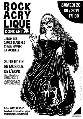 illustration de Dé-vernissage musical à La Rochelle de l'exposition de Robert Combas : Rock Acrylique, samedi 20 septembre 2014 à 17h30