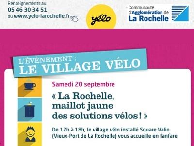 illustration de Village vélo à La Rochelle, samedi 20 septembre 2014