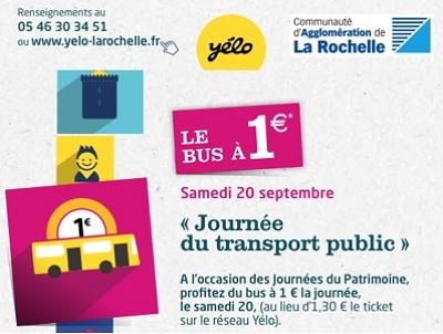 illustration de La Rochelle Agglomération : le bus à 1€ la journée pour la journée des transports publics, samedi 20 septembre 2014
