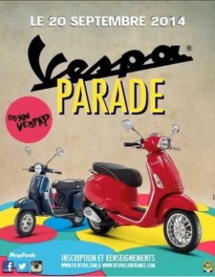 illustration de Vesparade à La Rochelle : rassemblement de scooters, samedi 20 septembre 2014