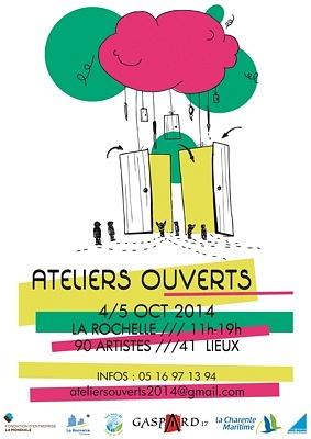 illustration de Ce week-end à La Rochelle : ateliers ouverts les 4 et 5 octobre 2014, parcours-balade dimanche 5, départ à 13h30