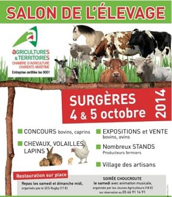 illustration de Charente-Maritime : salon de l'élevage et marché fermier à Surgères, 4 et 5 octobre 2014